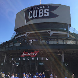 A day at Wrigley by Jeff Pencek - Sports & Fitness Baseball