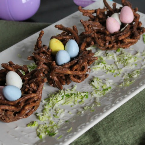 Chocolate and Peanut Butter Birds Nest