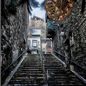 by Jean Claude Hebert - City,  Street & Park  Street Scenes ( pwcholidays-dq )