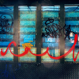 Undersigned by Camelia Cilianu - Novices Only Abstract ( sign, abstract, red, green, graffiti )