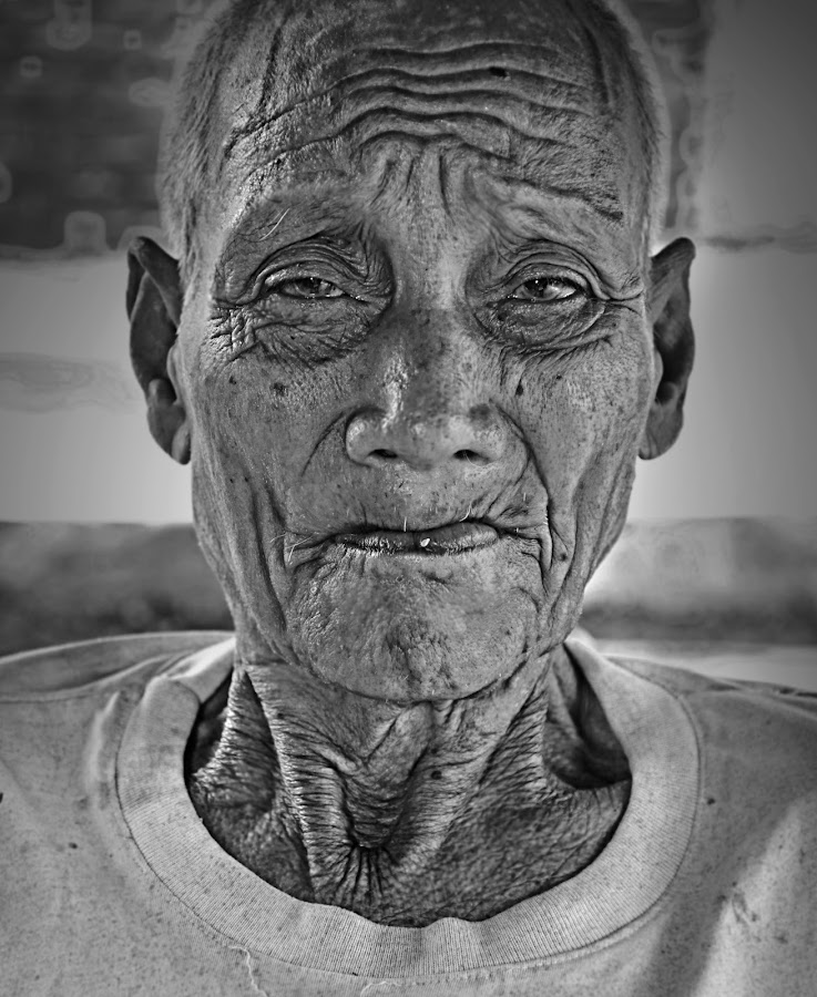 old man II by Saniyil Bansai - People Portraits of Men ( pwcprofiles )