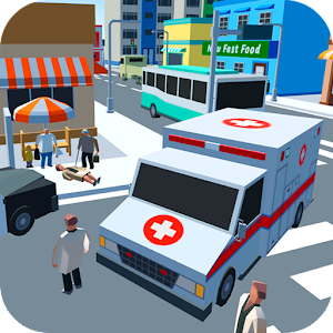 Ambulance Driver - Extreme city rescue For PC (Windows & MAC)