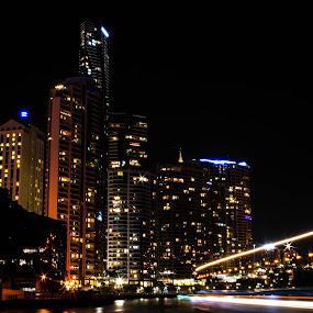Brisbane by Ty Hanson - City,  Street & Park  City Parks ( australia, brisbane, night, scenery, light, photo, photography, city )