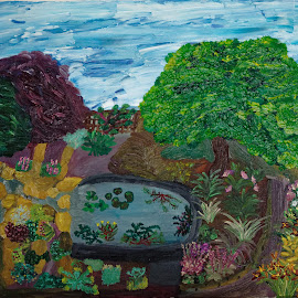 my garden by Paul Robin Andrews - Painting All Painting ( garden, painting, oil )