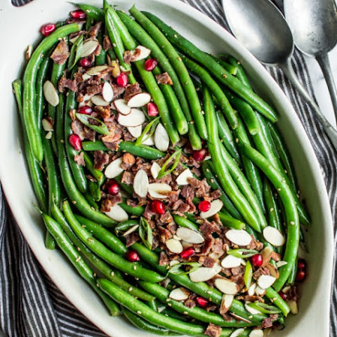 Miso Maple Green Bean Salad with Bacon