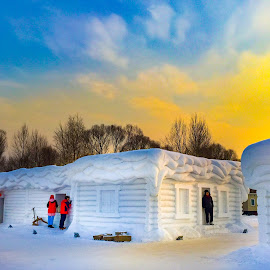 Winter Fairlytale Snow house by Chong Kok - Landscapes Weather ( snow house )