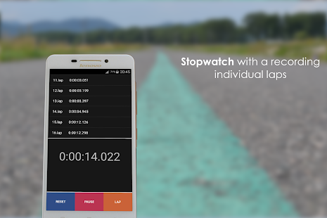 Stopwatch on routes - screenshot
