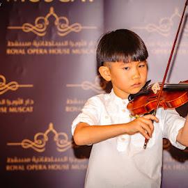 The Violin Player by Sanjoy Sengupta - People Musicians & Entertainers ( #muscat, #nikon, #nikon d700, #music, #oman, #violin,  )