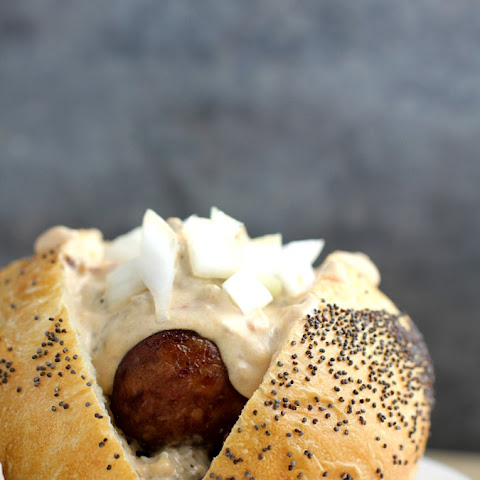Grilled Beer Kielbasa with Sausage and Stout Queso