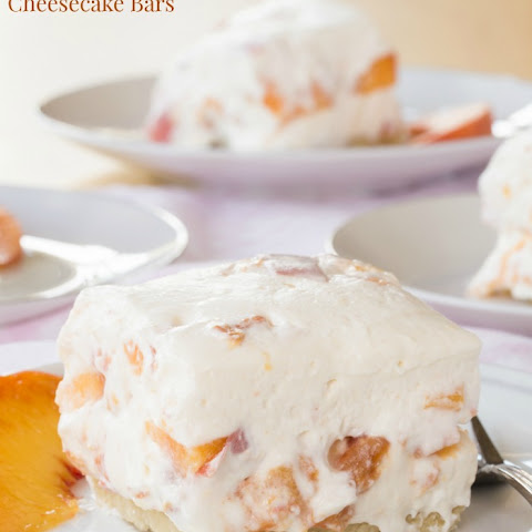 Gluten Free No-Bake Peach Cheesecake Bars