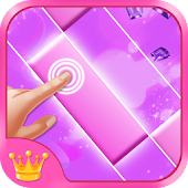 Pink Piano Tiles APK for Bluestacks