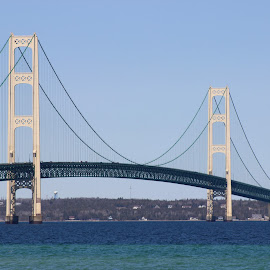 Mackinaw Bridge by Warren Reinhardt - Buildings & Architecture Bridges & Suspended Structures