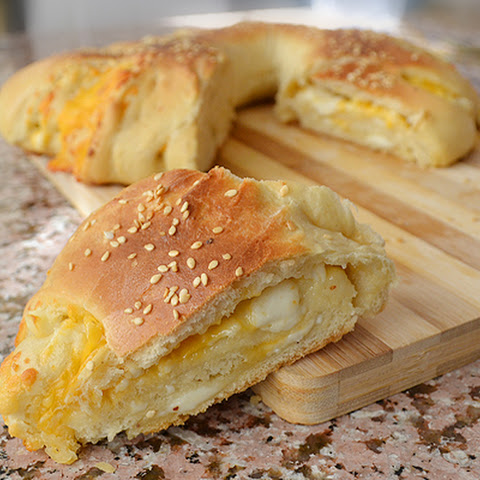 Cheese Stuffed Bread Flower