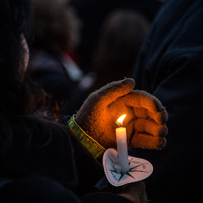 Light the Way to Justice by Robert Harmon - News & Events Politics ( politics, hands, candles, gloved hands, people, lgbt )
