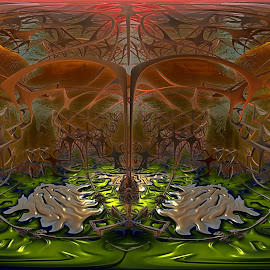 Flooring Gnarly by Rick Eskridge - Illustration Sci Fi & Fantasy ( fantasy, gnarly, mb3d, fractal, twisted brush )