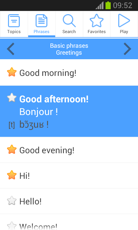 Phrasebook PRO (16 languages) Screenshot 4