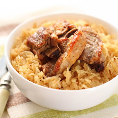 Pressure Cooker Spare Ribs And Sauerkraut