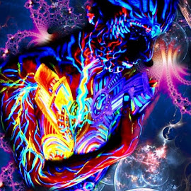 Astral Goddess by Josiah Hill-meyer - Digital Art Abstract