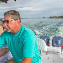 Boating on Sarasota Bay by Joe Saladino - People Family ( woman, man, family, water, boat )