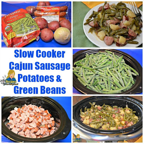 Cajun Sausage Green Beans in Slow Cooker