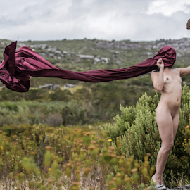 Trail  by Jason Elphick - Nudes & Boudoir Artistic Nude ( breast, fynbos, nude, nature, creative, art )