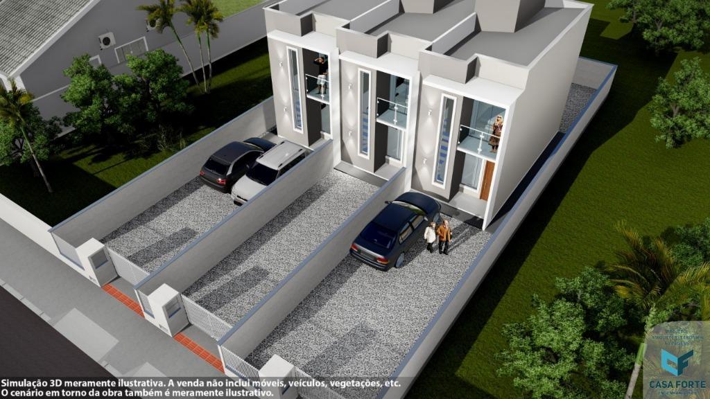 Sobrado com 2 dormitórios à venda, 64 m² por R$ 179.000 - Mata Atlântica Ii - Tijucas/SC