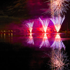 by Kathy Suttles - Abstract Fire & Fireworks
