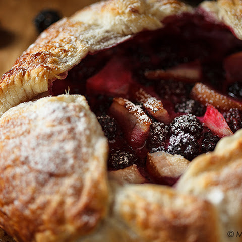 Blackberry Pear Galette with Honied Goat Cheese