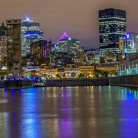 Montreal by night by Bogdan Marin - City,  Street & Park  Night