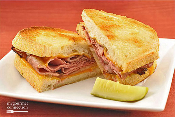 Oven-Grilled Roast Beef and Cheddar Sandwiches Recipe | Yummly