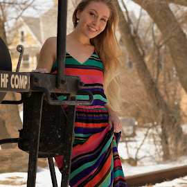 Sunshine, Smiles, and Snow by Big Pikey - People Portraits of Women ( sunshine and smiles, pretty girl candid portrait, natural beauty, laughing blonde beauty, blonde outdoor candid portraut,  )