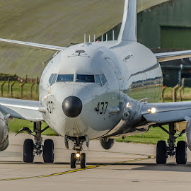 POSEIDON by Alistair Forrest - Transportation Airplanes ( scotland, aircraft, lossiemouth, raf, usn, p8 )