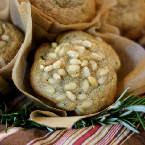 Rosemary-Pinenut Muffins {made with COCOA BUTTER}