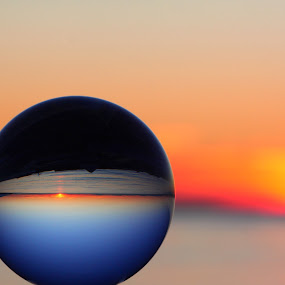 Planetary Sunset by Nico Carbajales - Abstract Light Painting ( canon, clouds, water, ball, canada, art, ocean, crystal, beach, 50d, vancouver, sun, sky, nature, sunny, sunset, artistic, glass, fine, bc )