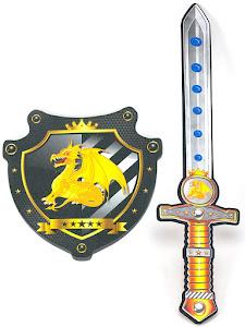 """Игровой набор """"Играем с папой"""", щит и меч, золотой"""