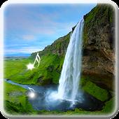 Wasserfall Töne Hintergrund