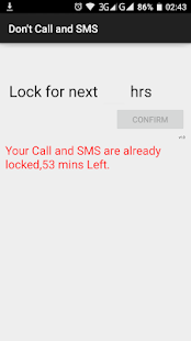 Don't Call and SMS - screenshot