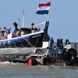 Rescue boat, Netherlands. by Anja Kroes - Transportation Boats