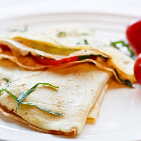 Tomato and Herb Cheese Crêpes