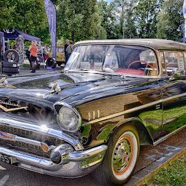 Chevrolet Cabriolet by Marco Bertamé - Transportation Automobiles ( cabriolet, chevrolet, vintage, american, oldtimer, black )