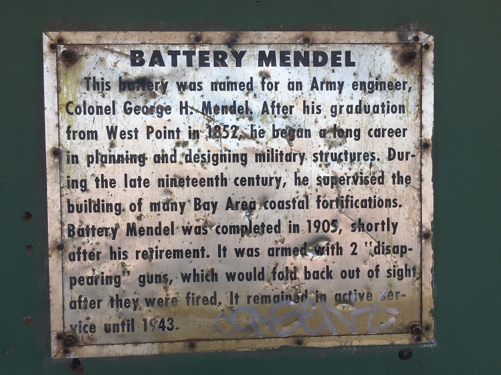 BATTERY MENDEL  This battery was named for an Army engineer, Colonel George H. Mendel. After his graduation from West Point in 1852, he began a long career in planning and designing military ...