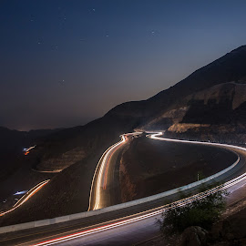 Heart Touching Way by Salman Ahmed - Landscapes Mountains & Hills ( lights, mountains, light trails, long exposure, travel )