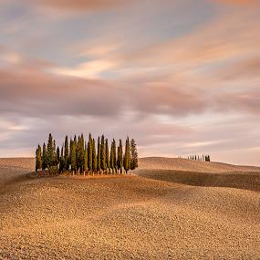 Tuscany by Ryszard Lomnicki - Landscapes Cloud Formations ( tuscany, sunset, long exposure, longexposure, italy,  )