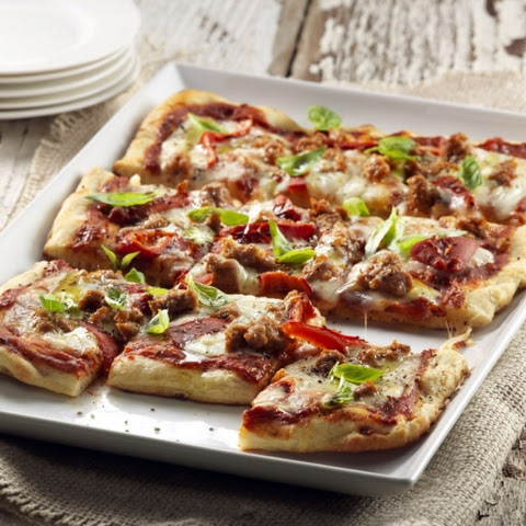 Italian Sausage & Roasted Red Pepper Pizza