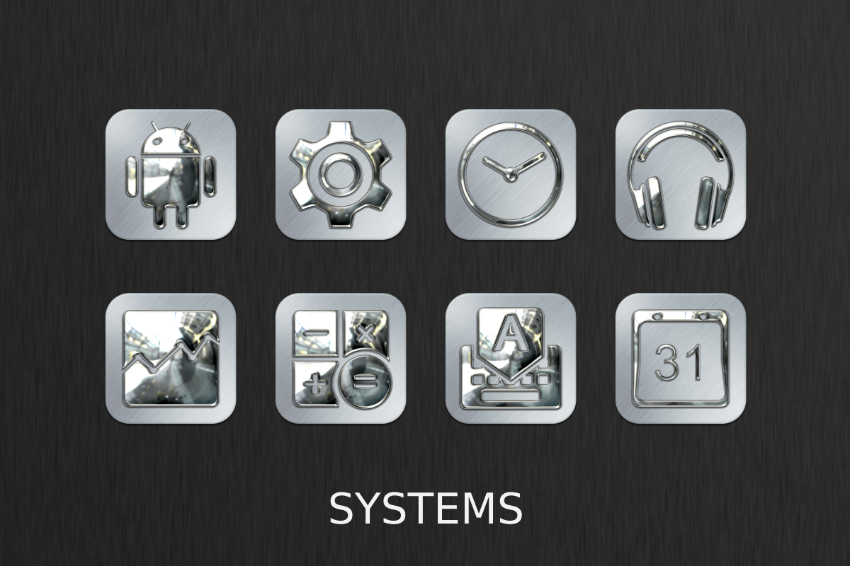 Silver Chrome Icon Pack Screenshot 8