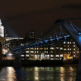 St Paul's Cathedral /Millennium Bridge  by Bquavs Photography - Travel Locations Landmarks ( pwclandmarks )