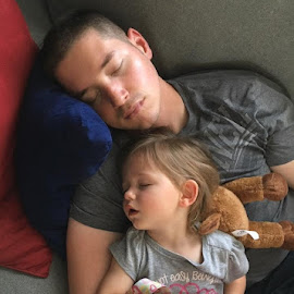 Daddy and his daughter, Riley! by Debbie Miller - People Family ( toddlers )
