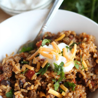 Skillet Taco and Rice Dinner