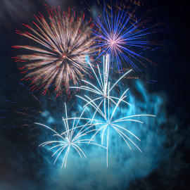 Shazam by Tom Weisbrook - Abstract Fire & Fireworks ( freedom over texas, explosions, houston, texas, fireworks, july 4th, pyrotechnics, independence day )