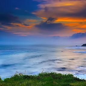 twilight was in a cliff by Ridwan Aditama - Landscapes Sunsets & Sunrises ( sunset, seascape, sunrise, landscapes, landscape )